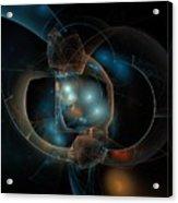 Aqua Wormholes Acrylic Print