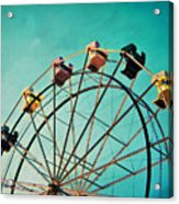 Aquamarine Dream - Ferris Wheel Art Acrylic Print