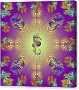 Aquarium Glow Purple Acrylic Print