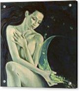 Aquarius From  Zodiac Signs Series Acrylic Print by Dorina  Costras