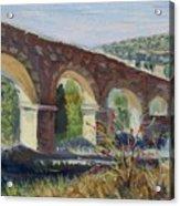 Aqueduct Near Pedraza Acrylic Print