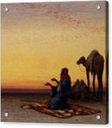 Arab At Prayer Acrylic Print