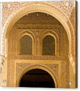 Arabesque Ornamental Designs At The Casa Real In The Nasrid Palaces At The Alhambra Acrylic Print
