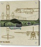 Arado Ar234b-2 - Profile Art Acrylic Print