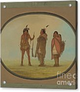 Arapaho Chief, His Wife, And A Warrior Acrylic Print