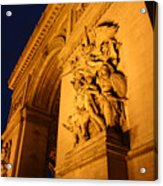 Arc De Triomphe At Night Acrylic Print