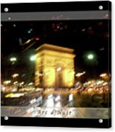 Arc De Triomphe By Bus Tour Greeting Card Poster V1 Acrylic Print