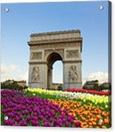 Arc De Triomphe In Paris Acrylic Print