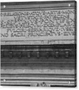 Arc Text Acrylic Print