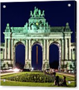 Arcade Du Cinquantenaire At Night - Brussels Acrylic Print