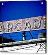Arcade Vintage Sign Acrylic Print