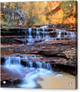 Arch Angel Waterfalls In Zion Acrylic Print