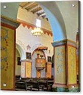 Arch In San Juan Bautista Mission Acrylic Print