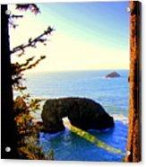 Arch Rock Reflection Acrylic Print