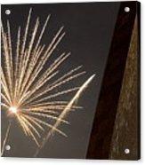 Arch With Fireworks Acrylic Print