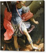 Archangel Michael Defeating Satan Acrylic Print