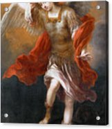 Archangel Michael Hurls The Devil Into The Abyss Acrylic Print