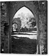 Arched Door At Ballybeg Priory In Buttevant Ireland Acrylic Print