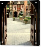 Arched Doorway With A Bavarian View Acrylic Print