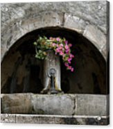 Arched Fountain Acrylic Print