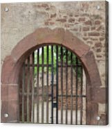 Arched Gate At Heidelberg Castle Acrylic Print