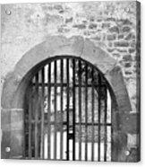 Arched Gate B W Acrylic Print