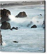 Arched Rock Wave Break Acrylic Print