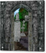 Arches And Cross In Ireland Acrylic Print
