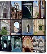 Arches Collage Acrylic Print