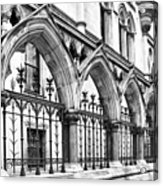 Arches Front Of The Royal Courts Of Justice London Acrylic Print