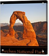 Arches National Park Poster Acrylic Print