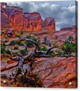 Arches National Park Rain Acrylic Print