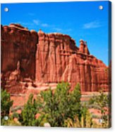 Arches National Park, Utah Usa - Tower Of Babel, Courthouse Tower Acrylic Print