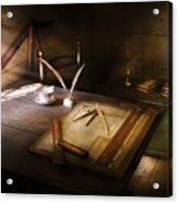 Architect - The Drafting Table  Acrylic Print
