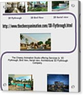 Architectural 3d Flythrough Acrylic Print