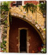 Architectural Details In Chania Acrylic Print