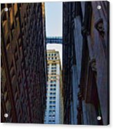 Architecture New York City The Crossing  Acrylic Print