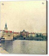 Architecture Of Charles Bridge Acrylic Print