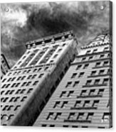 Architecture Tall Buildings Bw Nyc  Acrylic Print