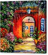 Archway Garden Acrylic Print