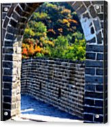 Archway To Great Wall Acrylic Print