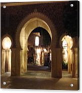 Archways At Night Acrylic Print