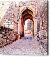 Archways Ornate Palace Mehrangarh Fort India Rajasthan 1a Acrylic Print
