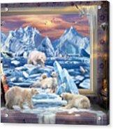 Arctic Bears Coming Acrylic Print
