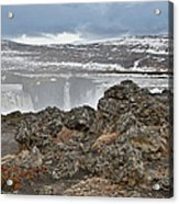 Area By Godafoss Waterfalls, Iceland Acrylic Print