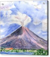 Arenal Volcano Costa Rica Acrylic Print by Arline Wagner