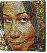 Aretha Franklin Tribute Mosaic Portrait 2 Acrylic Print