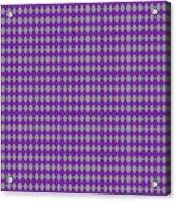 Argyle Diamond With Crisscross Lines In Paris Gray T30-p0126 Acrylic Print