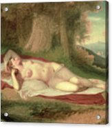 Ariadne Asleep On The Island Of Naxos Acrylic Print by John Vanderlyn
