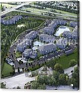 Arial View Exterior Rendering Design Ideas Acrylic Print